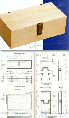 Wooden Hinged Box Plans - Woodworking Plans and Projects | WoodArchivist.com
