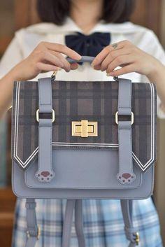 Preorder: 【-The Cat's Paw-】 Sweet Lolita Messenger Bag ◆ Very Limited Quantity! Kawaii Bags, Kawaii Clothes, Kawaii Accessories, Fashion Accessories, Mochila Kpop, Stylish School Bags, Bag Women, Accesorios Casual, Purses And Handbags