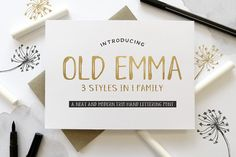 Old Emma is a trio of fonts with a mixed style of modern hand lettering sans-serif and serif. Hand Drawn Fonts, Hand Lettering Fonts, Script Fonts, Serif Font, Cursive Calligraphy, Handwriting Fonts, Texture Web, Gold Texture, Envato Elements