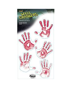 Floor Gore Bloody Human Handprints - Spirithalloween.com