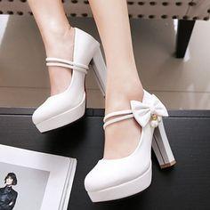 ead61826853 Zapatos Salón De mujer Salón PU Tacón ancho