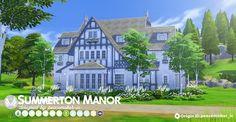 Simsational designs: Summerton Manor • Sims 4 Downloads