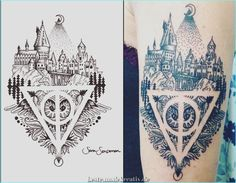 Elegant 40 Magical Harry Potter Tattoo Ideas to bring out your inner wizard - Eat Recipes Harry Potter Tattoos, Harry Potter Props, Harry Potter Anime, Harry Potter Fan Art, Harry Potter Fandom, Harry Tattoos, Detailliertes Tattoo, Harry Potter Birthday Cards, Engel Tattoo