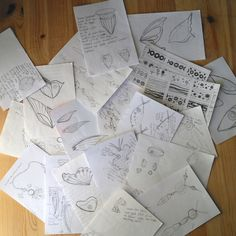 I'm a back of an envelope scraps of paper kind of designer ~ some of my sketches this year ~ www.MaidofGlass.co.uk