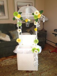 Bridal Shower Wishing Well made from a Laundry Hamper