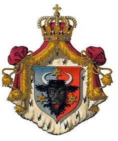 Wappen Herzogtum Bukowina - Bukovina - Wikipedia, the free encyclopedia Occult Books, Holy Roman Empire, Emblem, Banner, Family Crest, Medieval Art, Crests, Rock, Coat Of Arms