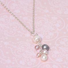 Loving this elegant and casual Freshwater pearl necklace. Made with a mix of freshwater pearls to create this lovely tactile pendant.