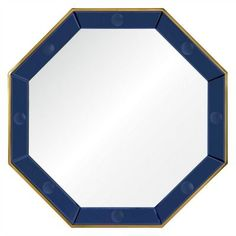 Bunny Williams, designer of the Octavia Wall Mirror, presents her cobalt blue framed mirror, accented in polished brass. Placed over a fireplace, buffet, console or dresser, this piece makes a stunningly bold, yet elegant statement!