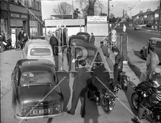 Cars 1959 - Petrol Strike at Dublin Garages Old Pictures, Old Photos, Ireland Homes, Dublin City, History Photos, Photo Archive, Garages, Irish, Classic Cars