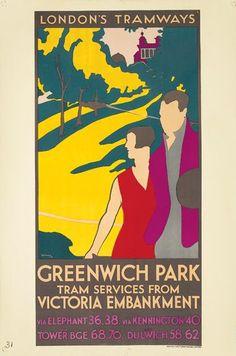 London's Tramways - Greenwich Park - 1931 - (Sleeman) -