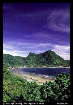 Vatia Bay and village, Tutuila Island, National Park of American Samoa