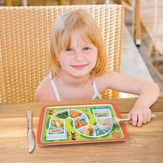 Dinner Winner - Kid's Dinner Tray Plate Dish | Makes Food Fun Fussy Eaters | Yellow Octopus