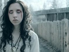 Emily Perkins I have yet to see any of these because Geoff refuses but Ginger Snaps Back, and this image is stunning List Of Fictional Characters, Ginger Snaps Movie, Lady Sovereign, Trailers, Katharine Isabelle, Trailer Peliculas, American Werewolf In London, Sympathy For The Devil, The Real Ghostbusters