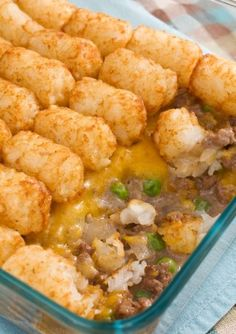 Tater Tots Casserole ~ Tater tot casserole is a budget meal that will like both kids and adults.