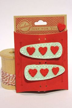 Heart Barrettes by Heather Nichols for Papertrey Ink (February 2013)