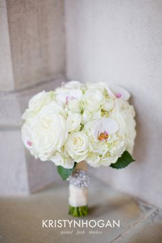 white hydrangea garden rose and orchid bouquet brocade designsbrocade designs