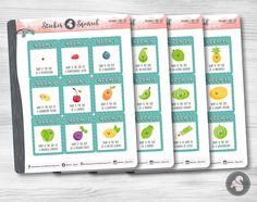 Pregnancy Baby Size Planner Stickers 4 Sheets - weekly pregnant new baby planning erin condren vertical calendar weeks old SC.PBS2.0217 by StickerSquirrel on Etsy