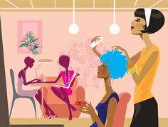 Illustration of women in a beauty salon vector art, clipart and stock vectors. Beauty Room, Hair Beauty, Beauty Care, Beauty Hacks, Beauty Video Ideas, Beach Hair, Rodan And Fields, So Little Time, Illustration Art