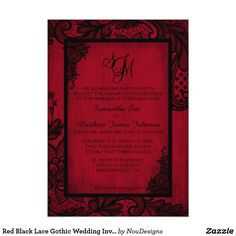 The 9 Best Red And Black Wedding Invitations Images On Pinterest