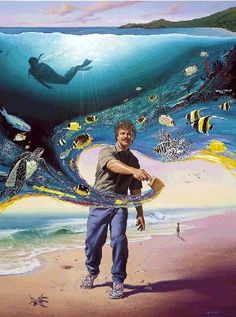 Portrait of Wyland--love this guy and his stuff!