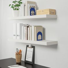 IKEA - LACK, Wall shelf, white, The shelf becomes one with the wall thanks to the concealed mounting hardware. Ikea Lack Wall Shelf, Lack Shelf, White Wall Shelves, Ikea Floating Shelves, Floating Bookshelves, Ikea Shelves, Shelving, Diy Wall Shelves, Glass Shelves