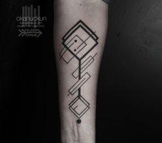 #tattoo #minimal #artdeco #geometric #black #work #arm #okan #uckun #istanbul #turkey #imnotminimal #line #dot #work