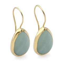 https://www.cityblis.com/6016/item/7319  Aventurine Drop Earrings - $68 by Toosis  All my jewelry is hand crafted with pure and sterling silver. The gold color is done by coating silver with 18 karat gold. This earring is designed with faceted drop shape cut blue aventurine stones.