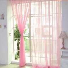 European style curtain jacquard design home decoration modern curtain tulle fabrics organza sheer panel window NEW