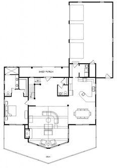 Alpine Meadow II - Version I - Log Homes, Cabins and Log Home Floor Plans - Wisconsin Log Homes
