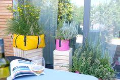 #TheGreenBag Big Garden, Herb Garden, Urban Planters, Real Beauty, Green Bag, Flower Beds, Bloom, Herbs, Wall