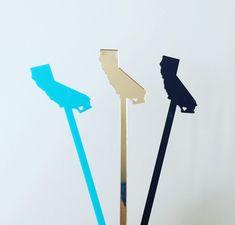 Custom State Swizzle Sticks,Personalized Gift,Drink Stirrer,Wedding,Bridal Shower,Engagement Party,Stir Sticks,Bar,California,Texas,6 Pk by JennandJulesDesigns on Etsy