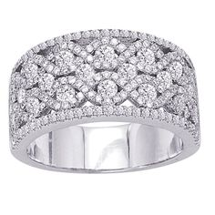 13 year wedding anniversary - lace!  This counts as lace, right? | 14K White Gold and Diamond Ring #diamonds #rings #lace