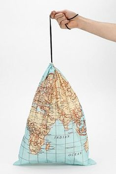 World Map Travel Laundry Bag