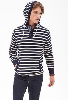 Nautical Striped Hoodie | 21 MEN - 2000083530