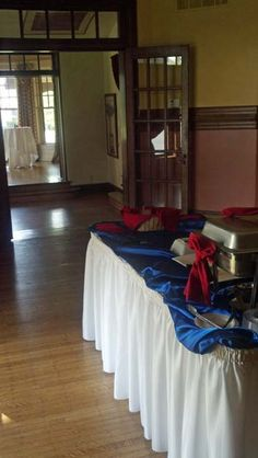 Elliott House dining room: sample set-up for business reception