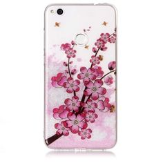 Coque Huawei P8 Lite 2017 Paillettes Pink Flowers