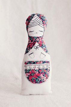Russian inspired Matryoshka cloth doll x