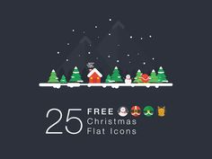 A set of 25 free Christmas icons. Free PSD created and released by whaledesigned.