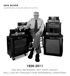 The Ampeg still stands as the greatest bass amp ever created. Thank you, Jess Oliver (RIP). Leo Fender, Bass Amps, Still Standing, Music Film, Guitar Amp, The Godfather, Les Paul, Music Stuff, Vintage Advertisements