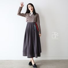 Types Of Dresses, Nice Dresses, Casual Dresses, Modest Fashion, Hijab Fashion, Fashion Dresses, Korea Fashion, Japan Fashion, Korea Dress