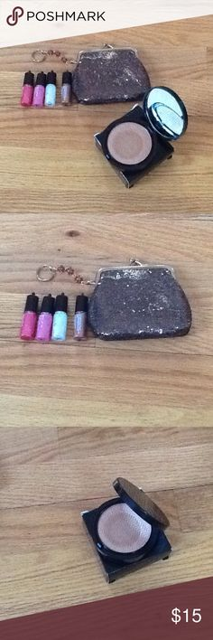 Mark Glowdacious Powder & Hook Up Luxe Lipgloss Mark Glowdacious Illuminating Powder & Mark Hook Up Luxe Lipgloss's with coin purse. Just hook up your lipgloss on the coin ring for easy & fast glossy lips. All my cosmetics are always new & never used Mark Makeup