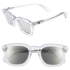 Men's Moncler 50Mm Square Sunglasses ($290) ❤ liked on Polyvore featuring men's fashion, men's accessories, men's eyewear, men's sunglasses, mens vintage eyewear, vintage mens sunglasses, mens sunglasses, mens square sunglasses and mens eyewear #mensaccessoriessunglasses #mensaccessoriesvintage