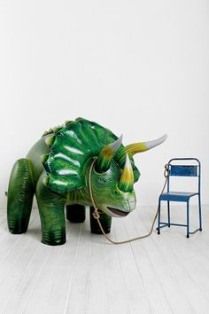 Because who doesn't need an Oversized Inflatable Triceratops?