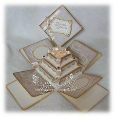 Sazzle Craft: Vintage Wedding Exploding Box