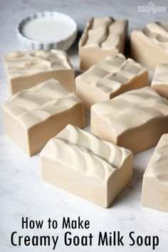 Creamy Goat Milk Soap Recipe