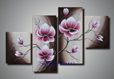 flowers multiple canvases