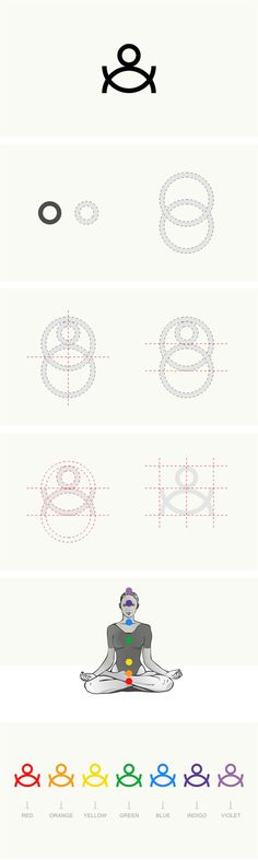 """O"" Yoga  Pilates medicine school - Brand Identity, design by Vasilis Magoulas / #yoga #identity"