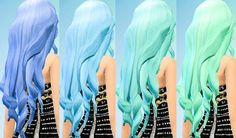 Ohmyglobsims's Retexture / Edit Pastel Hair Recolors – David Sims long wavy hairstyle retextured Long hairstyles for Females