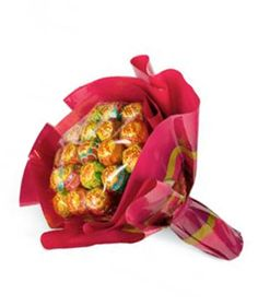 Mini Chupa Chups bouquet filled with an assortment of Chupa Chups flavors. Contains 20 lollies. $18.00