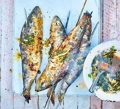 Discover the best sardine recipes from BBC Good Food. We've got recipes for all seasons, making the most of thrifty canned sardines and fresh fish alike. Barbecued Fish Recipes, Grilled Fish Recipes, Healthy Grilling Recipes, Healthy Work Snacks, Super Healthy Recipes, Barbecue Recipes, Healthy Foods, Fish Recipes Bbc, Bbc Good Food Recipes